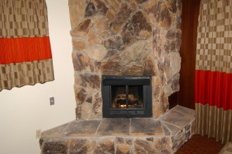 Fireplace in King Mini Suite